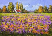Marius Prinsloo.: Countryside with purple touch