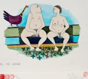 CON PvdW: Nude Couple on Bench