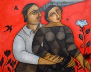 HDC147: Couple With Red Background